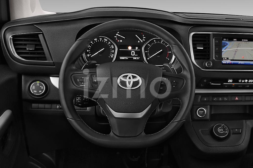 Car pictures of steering wheel view of a 2018 Toyota Proace-Verso VIP 5 Door Minivan Steering Wheel