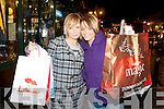 BARGAINS: Killarney girls Aideen Tierney and Meagan Higgins getting bargains in the new year sales in Killarney on Monday.   Copyright Kerry's Eye 2008