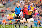 Paul O'Connor Kenmare in Action against Liam Lynch  Ballinasloe in the Junior All Ireland Club Final in Croke park on Sunday.