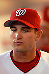 13 June 2006: Bill Bray, pitcher for the Washington Nationals, in the dugout during a game against the Colorado Rockies at RFK Stadium, in Washington, DC. The Rockies defeated the Nationals 9-2 in the second game of the four-game series...Mandatory Photo Credit: Ed Wolfstein Photo..
