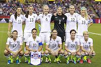 MONTREAL, CANADA, 30.06.2015 - EUA-ALEMANHA - Jogadoras do Estados Unidos durante partida contra Alemanha, válida pelas semi-finais da Copa do Mundo de Futebol Feminino, no Estádio Olímpico de Montreal, no Canadá, nesta sexta-feira, 30. (Foto: Vanessa Carvalho/Brazil Photo Press)