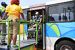 Competitors arrive for Boccia during the Paralympic Games at Carioca Arena 2 on September 15, 2016, Rio De Janeiro, Brazil. (Photo by Kenjiro Matsuo/AFLO)General view, <br /> SEPTEMBER 15, 2016 : A general view of the Main Press Center ahead of the Rio 2016 Paralympic Games in Rio de Janeiro, Brazil. (Photo by AFLO SPORT)