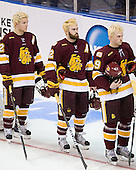 Mike Connolly (Duluth - 22), Jack Connolly (Duluth - 12), Max Tardy (Duluth - 19) - The University of Minnesota-Duluth Bulldogs defeated the Union College Dutchmen 2-0 in their NCAA East Regional Semi-Final on Friday, March 25, 2011, at Webster Bank Arena at Harbor Yard in Bridgeport, Connecticut.