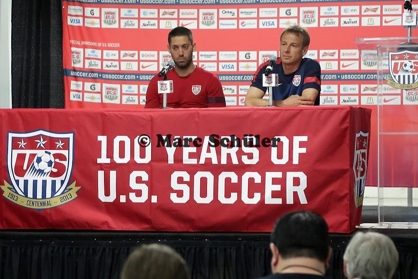 Clint Dempsey, Trainer Juergen Klinsmann - Training der US-Nationalmannschaft in Washington, RFK Stadium