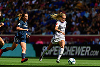 HARRISON, NJ - SEPTEMBER 29: Rachel Hill #15 of the Orlando Pride during a game between Orlando Pride and Sky Blue FC at Red Bull Arena on September 29, 2019 in Harrison, New Jersey.