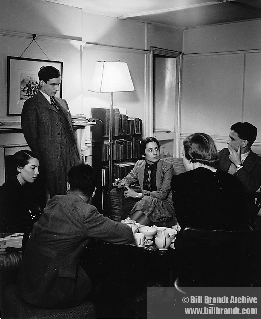 Meeting during WW2 in a drawing room