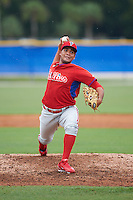 Philadelphia Phillies pitcher Ismael Cabrera (74) during an instructional league game against the Toronto Blue Jays on September 28, 2015 at Englebert Complex in Dunedin, Florida.  (Mike Janes/Four Seam Images)