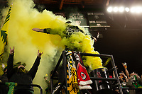 PORTLAND, OR - MARCH 01: The Timbers Army celebrate after the Portland Timbers scored a goal during a game between Minnesota United FC and Portland Timbers at Providence Park on March 01, 2020 in Portland, Oregon.