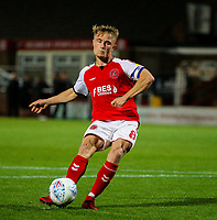 Fleetwood Town's Kyle Dempsey misses his penalty<br /> <br /> Photographer Alex Dodd/CameraSport<br /> <br /> The EFL Checkatrade Trophy - Northern Group B - Fleetwood Town v Leicester City U21 - Tuesday September 11th 2018 - Highbury Stadium - Fleetwood<br />  <br /> World Copyright &copy; 2018 CameraSport. All rights reserved. 43 Linden Ave. Countesthorpe. Leicester. England. LE8 5PG - Tel: +44 (0) 116 277 4147 - admin@camerasport.com - www.camerasport.com