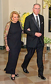 Dr. Irwin Jacobs, Co-founder, Qualcomm &amp; Chair of the Board of Trustees, Salk Institute, and Joan Jacobs arrive for the State Dinner in honor of Prime Minister Trudeau and Mrs. Sophie Gr&eacute;goire Trudeau of Canada at the White House in Washington, DC on Thursday, March 10, 2016.<br /> Credit: Ron Sachs / Pool via CNP