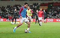 Leiria, Portugal - Tuesday November 14, 2017: Alejandro Bedoya during an International friendly match between the United States (USA) and Portugal (POR) at Estádio Dr. Magalhães Pessoa.