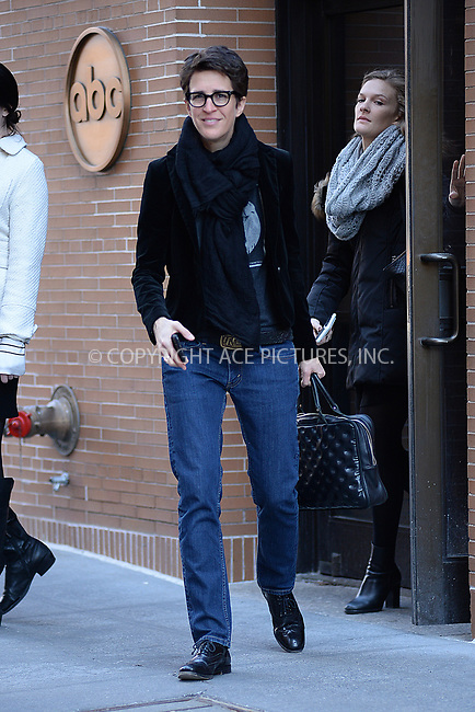 www.acepixs.com<br /> March 22, 2017 New York City<br /> <br /> Rachel Maddow at The View on March 22, 2017 in New York City.<br /> <br /> Credit: Kristin Callahan/ACE Pictures<br /> <br /> Tel: (646) 769 0430<br /> e-mail: info@acepixs.com
