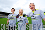 David Moran, Barry John Keane and Kieran Donaghy Kerry Senior footballers at their press day at Fitzgerald Stadium on Saturday.