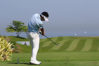 Daisuke Kataoka (JPN) during the third round of the NBO Open played at Al Mouj Golf, Muscat, Sultanate of Oman. <br /> 17/02/2018.<br /> Picture: Golffile | Phil Inglis<br /> <br /> <br /> All photo usage must carry mandatory copyright credit (&copy; Golffile | Phil Inglis)