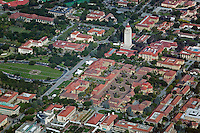 aerial photograph Mather Tower Stanford University