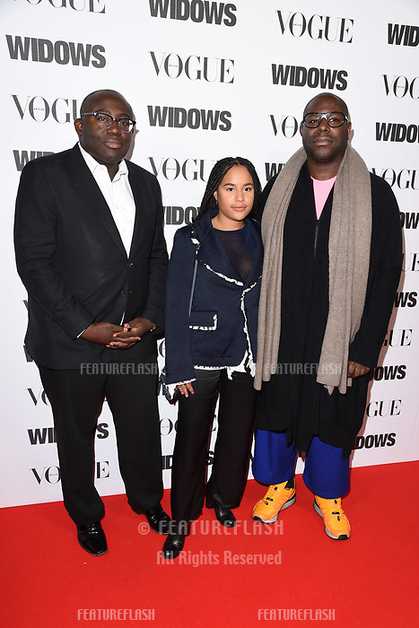 "LONDON, UK. October 31, 2018: Edward Enninful & Steve McQueen at the ""Widows"" special screening in association with Vogue at the Tate Modern, London.<br /> Picture: Steve Vas/Featureflash"