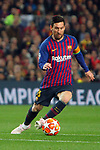 UEFA Champions League 2018/2019.<br /> Quarter-finals 2nd leg.<br /> FC Barcelona vs Manchester United: 3-0.<br /> Lionel Messi.