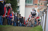 Lubomir Petrus (CZE) leading in the first lap<br />