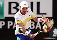 Il tennista spagnolo Roberto Bautista Agut in azione nel corso degli Internazionali d'Italia di tennis a Roma,18 maggio <br /> Spanish tennis player Roberto Bautista Agut in action during the italian Masters tennis in Rome, on May 18, 2017.<br /> UPDATE IMAGES PRESS/Isabella Bonotto