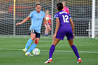 Piscataway, NJ - Wednesday Sept. 07, 2016: Christie Rampone, Kristen Edmonds during a regular season National Women's Soccer League (NWSL) match between Sky Blue FC and the Orlando Pride FC at Yurcak Field.