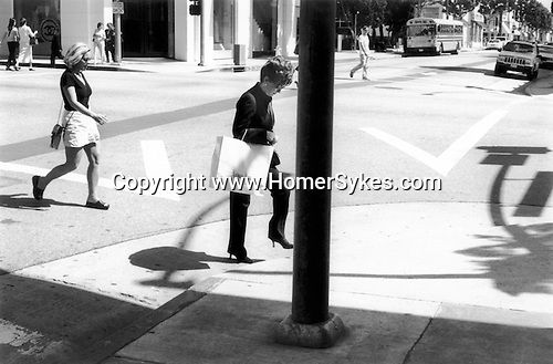 Woman in high heels, Beverly Hills, California USA 2001.