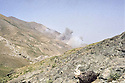 Iran 1980.Iraqi air raid near Rajan in september .Iran 1980.Bombardements irakiens dans la region de Rajan en septembre