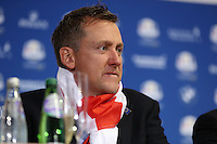 Ian Poulter (EUR) during the final European Team Press Conference after Sunday's Singles at the 2014 Ryder Cup from Gleneagles, Perthshire, Scotland. Picture:  David Lloyd / www.golffile.ie