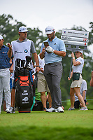 Jon Rahm (ESP) looks over his tee shot on 8 during Rd3 of the 2019 BMW Championship, Medinah Golf Club, Chicago, Illinois, USA. 8/17/2019.<br /> Picture Ken Murray / Golffile.ie<br /> <br /> All photo usage must carry mandatory copyright credit (© Golffile   Ken Murray)