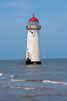 Point of Ayr lighthouse, Talacre, North Wales.
