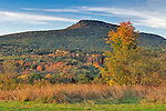 Mount Norwottuck as seen in  autumn from Mount Pollux at sunrise.