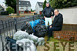 Residents annoyed at illegal dumping in Ogham Rian Housing Estate Tralee. Pictured locals Michael O'Brien and John Morrison