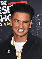 "WEST HOLLYWOOD, CA - MARCH 29:   Pauly DelVecchio at the ""Jersey Shore Family Vacation"" Global Premiere at HYDE Sunset: Kitchen + Cocktails on March 29, 2018 in West Hollywood, California. (Photo by Scott KirklandPictureGroup)"