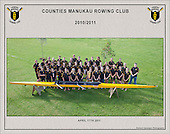 110417 Counties Manukau Rowing Club team photos