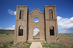 Abandoned adobe church in Las Mesitas, Colorado, USA