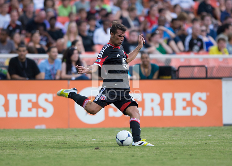 Emiliano Dudar.   D.C. United defeated the Columbus Crew, 1-0, during the game at RFK Stadium in Washington, DC.