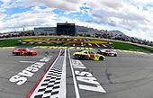 #00: Cole Custer, Stewart-Haas Racing, Ford Mustang Haas Automation and #19: Brandon Jones, Joe Gibbs Racing, Toyota Supra Menards/Jeld-Wen