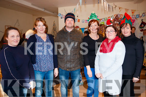 Colette McCarthy, Jennifer Murphy, Risteard Smith, Siobhan O'Shea, Catherine O'Sullivan, Caroline O'Shea at the Lauragh Christmas Fair on Sunday.
