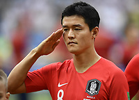 (180623) -- ROSTOV-ON-DON, June 23, 2018 -- Ju Sejong of South Korea reacts prior to the 2018 FIFA World Cup WM Weltmeisterschaft Fussball Group F match between South Korea and Mexico in Rostov-on-Don, Russia, June 23, 2018. ) (SP)RUSSIA-ROSTOV-ON-DON-2018 WORLD CUP-GROUP F-SOUTH KOREA VS MEXICO ChenxYichen PUBLICATIONxNOTxINxCHN  <br /> ROSTOV-ON-DON 23-06-2018 Football FIFA World Cup Russia  2018 <br /> South Korea - Mexico / Corea del Sud - Messico<br /> Foto Xinhua/Imago/Insidefoto