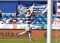 18th July 2020; The Kiyan Prince Foundation Stadium, London, England; English Championship Football, Queen Park Rangers versus Millwall; Ryan Manning of Queens Park Rangers celebrates after scoring his sides 2nd goal in the 52nd minute to make it 2-1