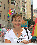 Cast member As The World Turns' Yvonne Perry poses as Empire The Series, the Internet's Hottest Soap Opera, returns this Summer 2012 for its 4th season - Sex.Scandal.Soap. as they march in the NYC Gay Pride Parade 2012 on June 24, 2012 from Fifth Avenue and 38th to the Village, New York City, New York. Check them out at Empiretheseries.com (Photo by Sue Coflin/Max Photos)