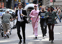 NEW YORK, NY-July 24: Paul Dano, Devon Bostick Daniel Henshall, Lily Collins shooting on location for Netflix & Plan B Enterainment  film Okja in New York. NY July 24, 2016. Credit:RW/MediaPunch