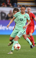 20180406 - LEUVEN , BELGIUM : Portugese Vanessa Marques   pictured during the female soccer game between the Belgian Red Flames and Portugal , the fourth game in the qualificaton for the World Championship qualification round in group 6 for France 2019, Friday 6 th April 2018 at OHL Stadion Den Dreef in Leuven , Belgium. PHOTO SPORTPIX.BE | DIRK VUYLSTEKE