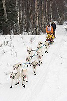 Jim Lanier w/Iditarider on Trail 2005 Iditarod Ceremonial Start near Campbell Airstrip Alaska SC