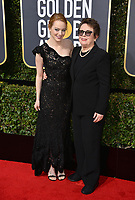 Emma Stone & Billie Jean King at the 75th Annual Golden Globe Awards at the Beverly Hilton Hotel, Beverly Hills, USA 07 Jan. 2018<br /> Picture: Paul Smith/Featureflash/SilverHub 0208 004 5359 sales@silverhubmedia.com