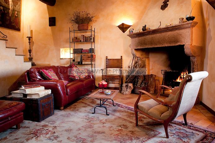 Il soggiorno (living room), 'I Cerri', 14th Century Watch-tower, Spoleto, Umbria, Italy