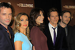 """Guiding Light's Kevin Bacon """"Tim Werner"""" (Search For Tomorrow), As The World Turns' Annie Parisse """"Julia"""" and Passions Natalie Zea """"Gwen Hotchkiss"""", James Purefoy (L) and Shawn Ashmore (R) star in """"The Following"""", Fox's new tv series on Mondays, which held its world premiere on January 19, 2013 at the New York Public Library, New York City, New York. (Photo by Sue Coflin/Max Photos)"""
