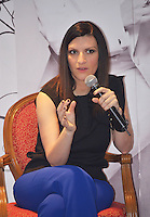 Mexico D.F., 27/02/2014, Laura Pausini en conferencia de prensa.