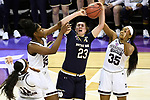 COLUMBUS, OH - APRIL 1: Jessica Shepard #23 of the Notre Dame Fighting Irish fights for a rebound against Mississippi State players during the championship game of the 2018 NCAA Division I Women's Basketball Final Four at Nationwide Arena in Columbus, Ohio. (Photo by Tim Nwachukwu/NCAA Photos via Getty Images)