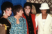 Elizabeth Taylor Liza Minnelli Michael Jackson Whitney Houston 1988<br /> Photo By John Barrett/PHOTOlink.net