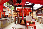 One of the side Shinto shrines at Fushimi Inari Taisha head shrine in Fushimi Ward, Kyoto, Japan